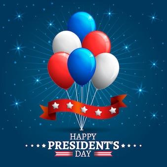 Ballons colorés du jour du président