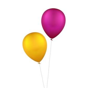 Ballons colorés multicolores de vecteur isolés