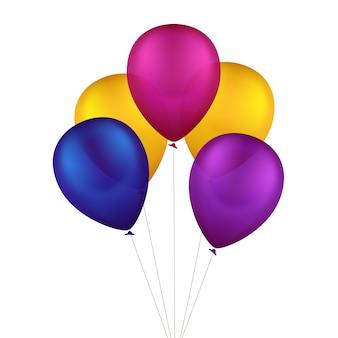 Ballons colorés multicolores de vecteur