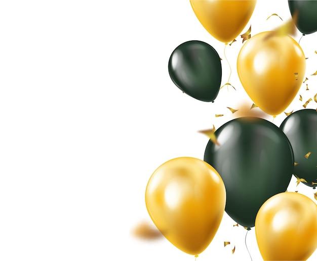 Ballons colorés volant pour le fond de vecteur de fête et de célébrations. illustration vectorielle