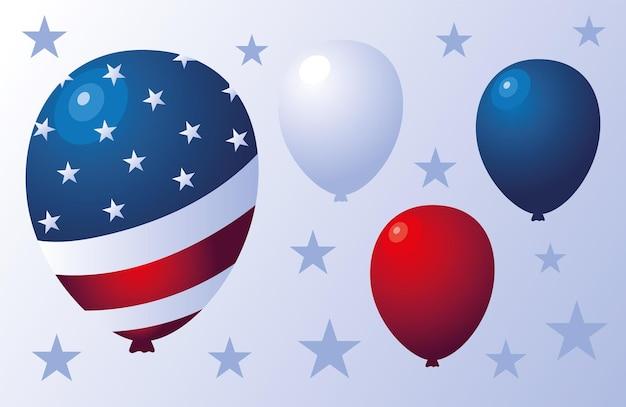 Ballons décoratifs du drapeau américain