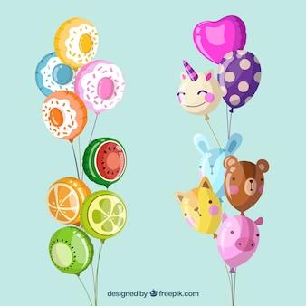 Ballons décoratifs mignons et colorés