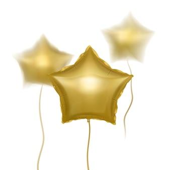 Ballons dorés avec effet flou