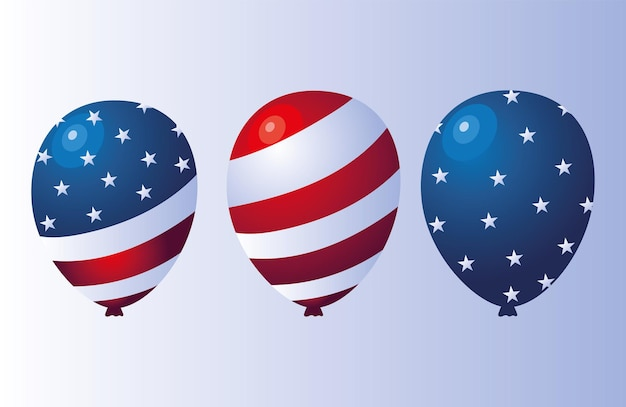 Ballons du drapeau des états-unis