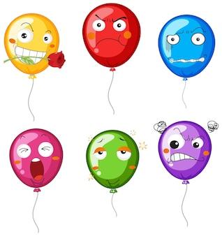 Ballons avec des expressions faciales différentes