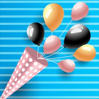 Ballons de fête d'anniversaire