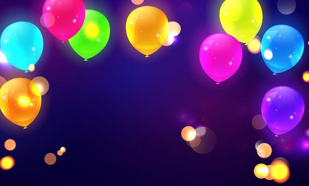 Ballons de fête et lumières bokeh