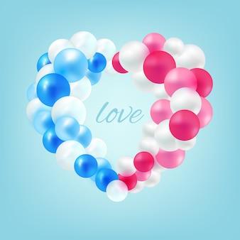 Ballons en forme de coeur pour le couple