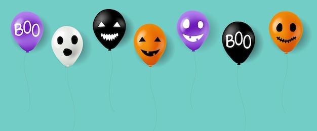 Ballons d'halloween heureux