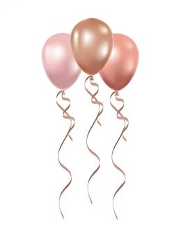 Ballons à l'hélium sur blanc