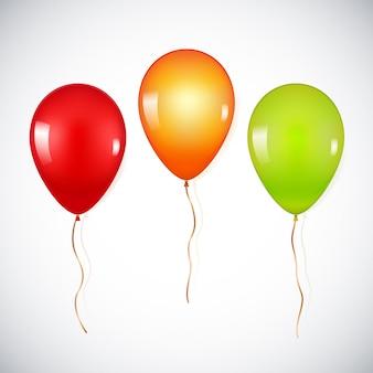 Ballons d'hélium réalistes colorés isolés