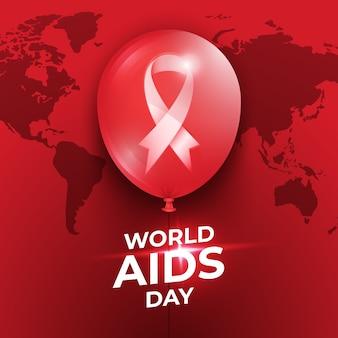 Ballons de la journée mondiale du sida