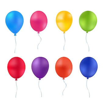 Ballons lumineux multicolores