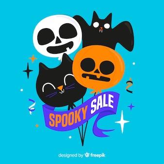 Ballons mignons avec ruban pour la vente d'halloween