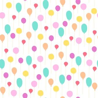 Ballons de modèle sans couture pour la fête d'anniversaire des enfants.