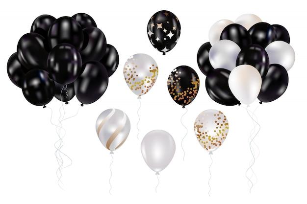 Ballons noir et blanc