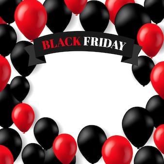 Ballons noirs et rouges
