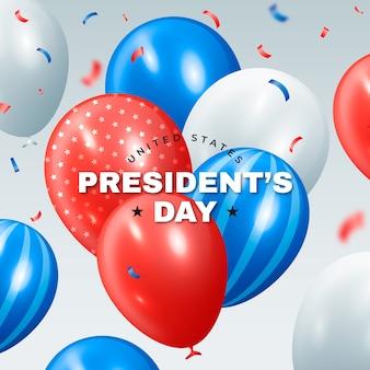 Ballons réalistes du jour du président des états-unis