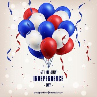 Ballons réalistes de la journée de l'indépendance des états-unis