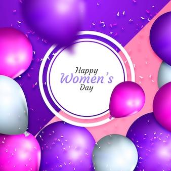 Ballons réalistes pour la représentation de la journée des femmes