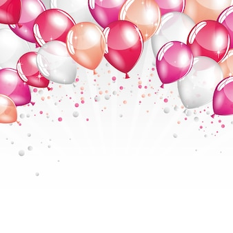 Ballons roses et blancs