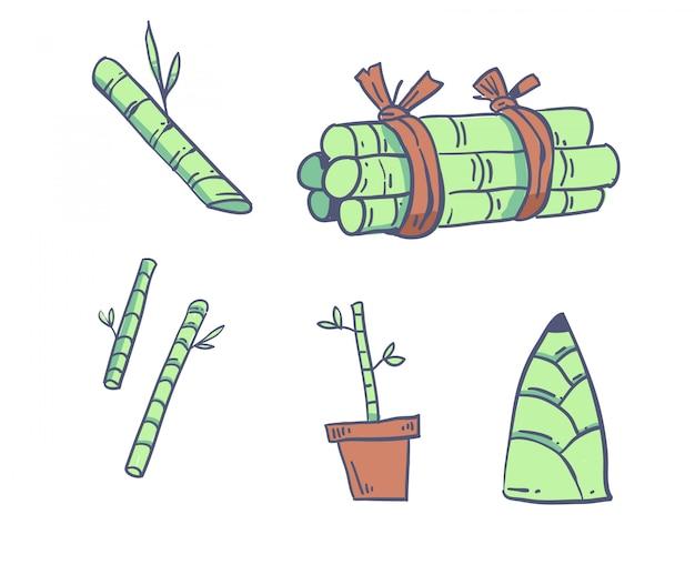 Bambou de style dessin animé