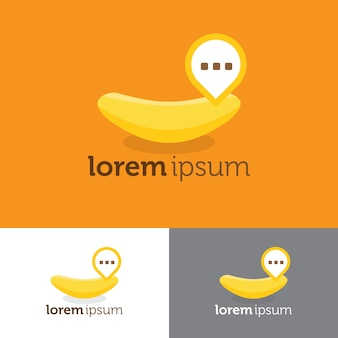 Banana chat logo pour l'application