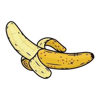 Banane de dessin animé. banane, fruit illustration isolé