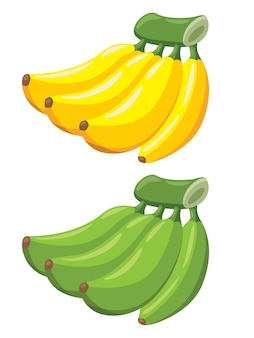 Banane de dessin animé mignon
