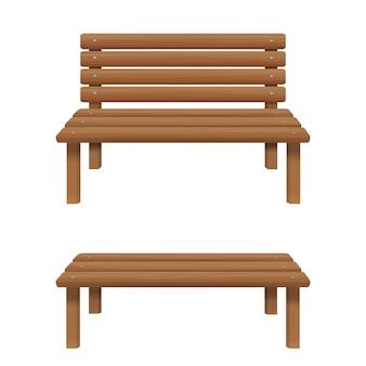 Bancs en bois avec et sans dossier mobilier d'extérieur pour terrasse jardin parc