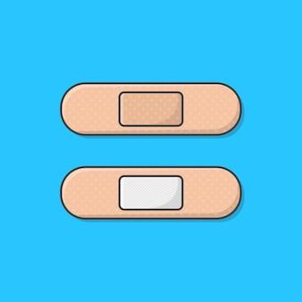 Bandage adhésif en plâtre médical. bande de premiers soins bande de plâtre médical