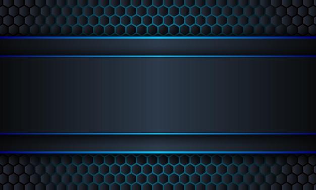 Bande bleu marine abstraite avec fond de lignes bleues illustration vectorielle
