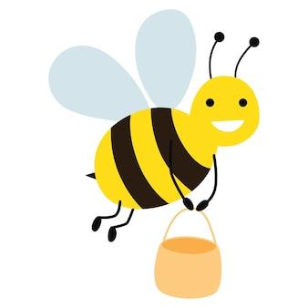 Bande Dessinée D'abeille Vecteur Premium