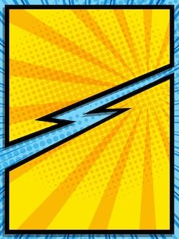 Bande dessinée abstraite pop art dessin animé fond illustration vectorielle