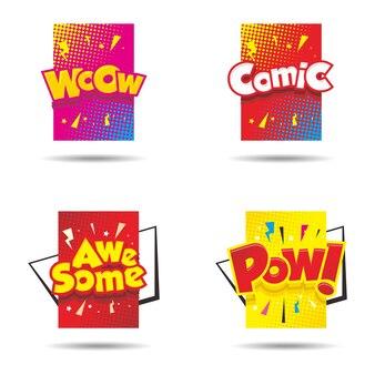 Bande dessinée bulle colorée avec texte