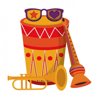 Bande dessinée carnaval fête fête instruments