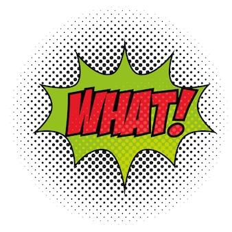 Bande dessinée comme quoi pop art signe sur illustration vectorielle fond blanc