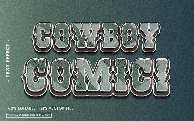 Bande dessinée de cow-boy! style d'effet de texte
