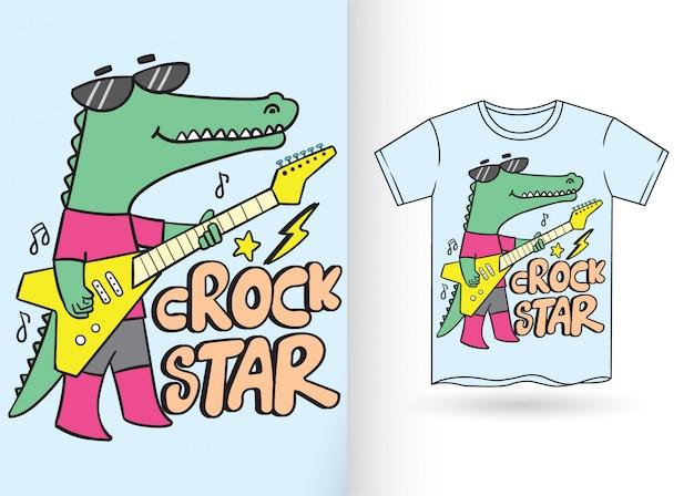Bande dessinée dessinée à la main pour t-shirt