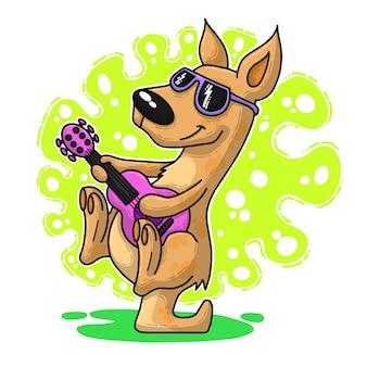 Bande dessinée drôle de kangourou