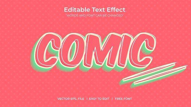 Bande dessinée à effet de texte