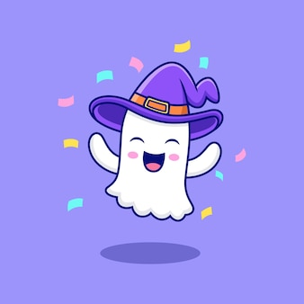 Bande dessinée heureuse de fantôme avec la pose mignonne