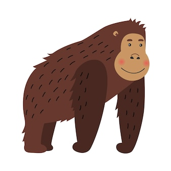 Bande dessinée heureuse de gorille