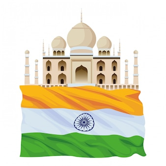 Bande dessinée icône de bâtiments indiens