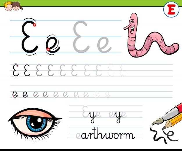Bande dessinée illustration de la pratique des compétences en écriture