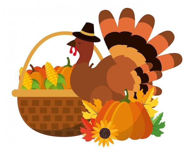 Bande dessinée joyeuse thanksgiving