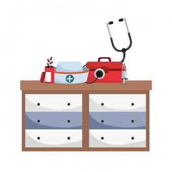 Bande dessinée médicale de soins de santé