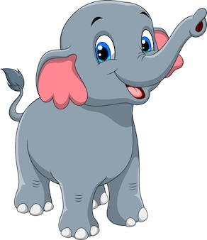Bande dessinée mignonne d'éléphant