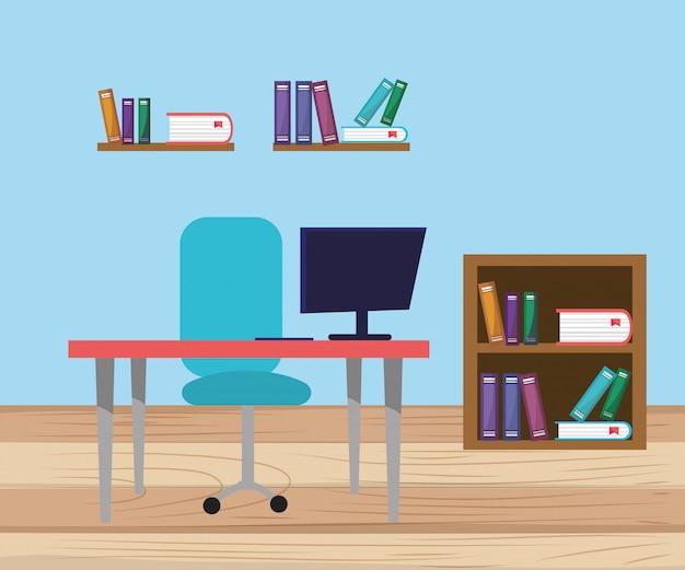Bande dessinée de mobilier moderne