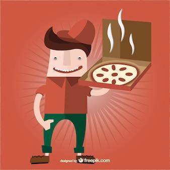 Bande dessinée pizza garçon